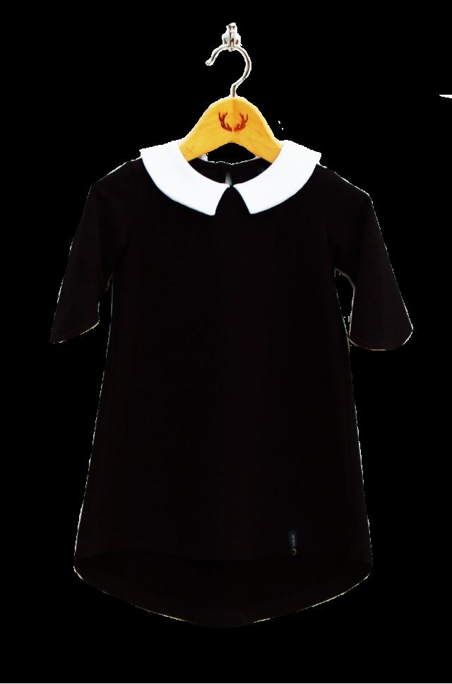 Dievčenské šaty s golierikom
